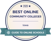 2020 Best Online Community Colleges Iowa logo