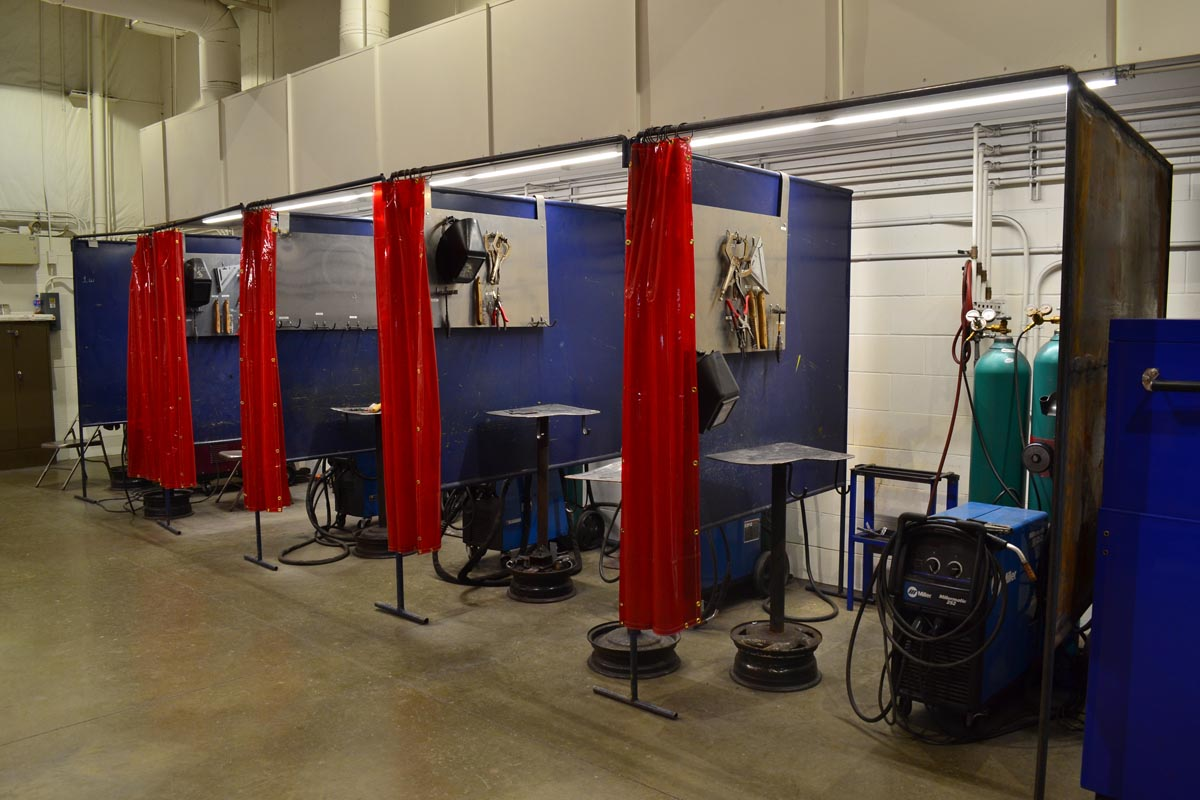 Welding stations in the Cresco Center welding lab.
