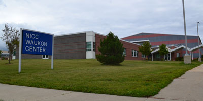 The Waukon Center entrance.
