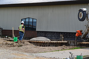 Photo of vet tech lab addition july 2019.