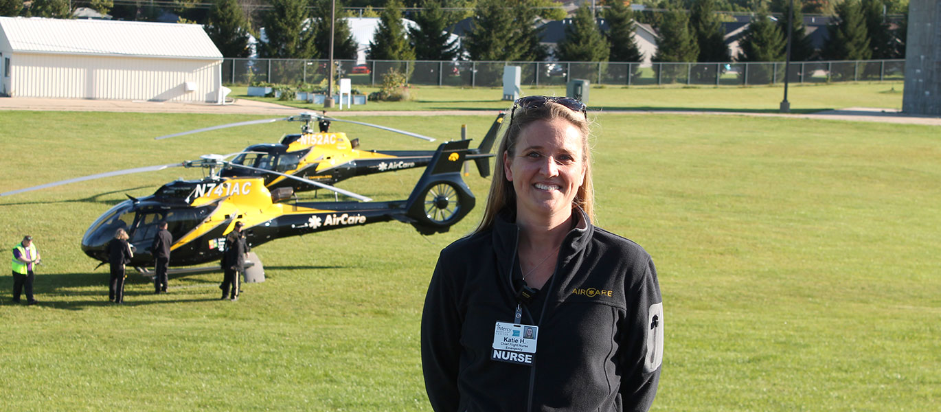 Photo of AirCare and Katie Harris.