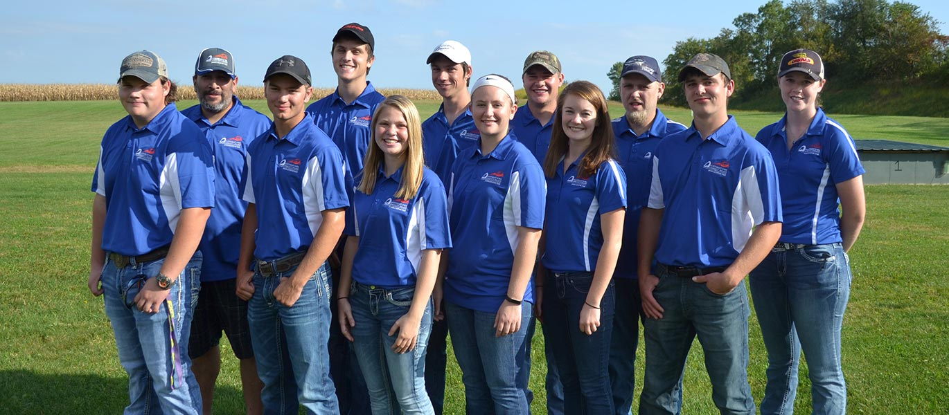 Members of the 2018-19 sports shooting team.